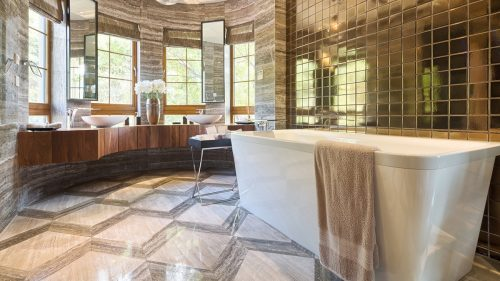 modern bathroom in luxury home